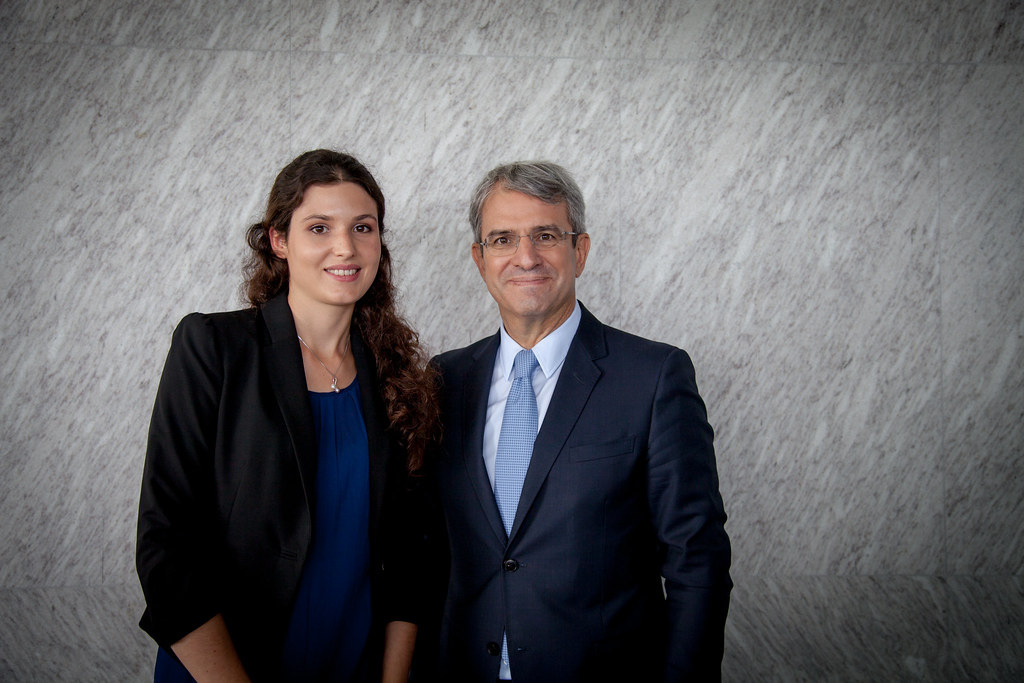 Left to right: Lucie De Gilberti and Laurent Freixe, Nestlé Executive Vice President, CEO Europe